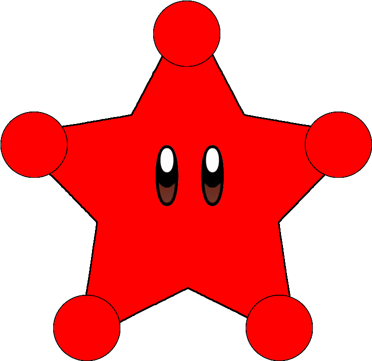 Paper Mario Galaxy - Super Mario Red Star Clipart - Full ...