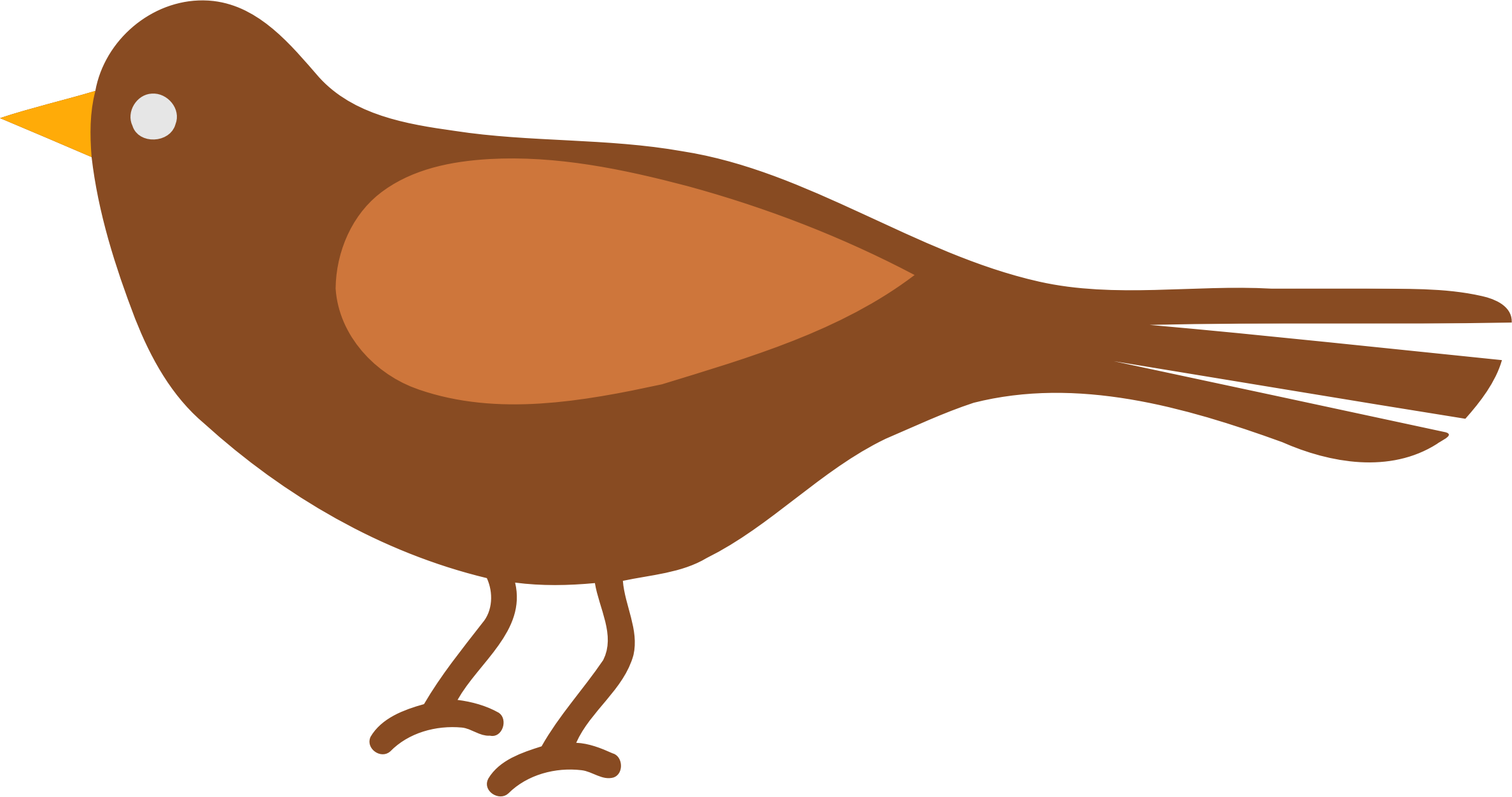 Big Image - Simple Bird Clipart - Png Download - Full Size ...