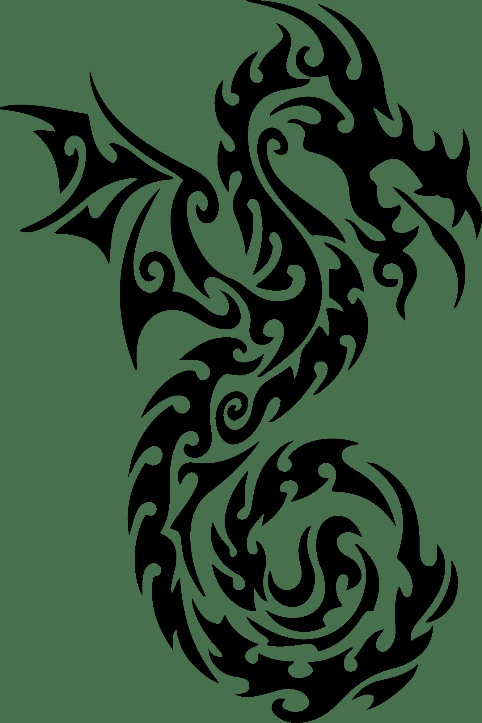 Картинка дракона черно белая