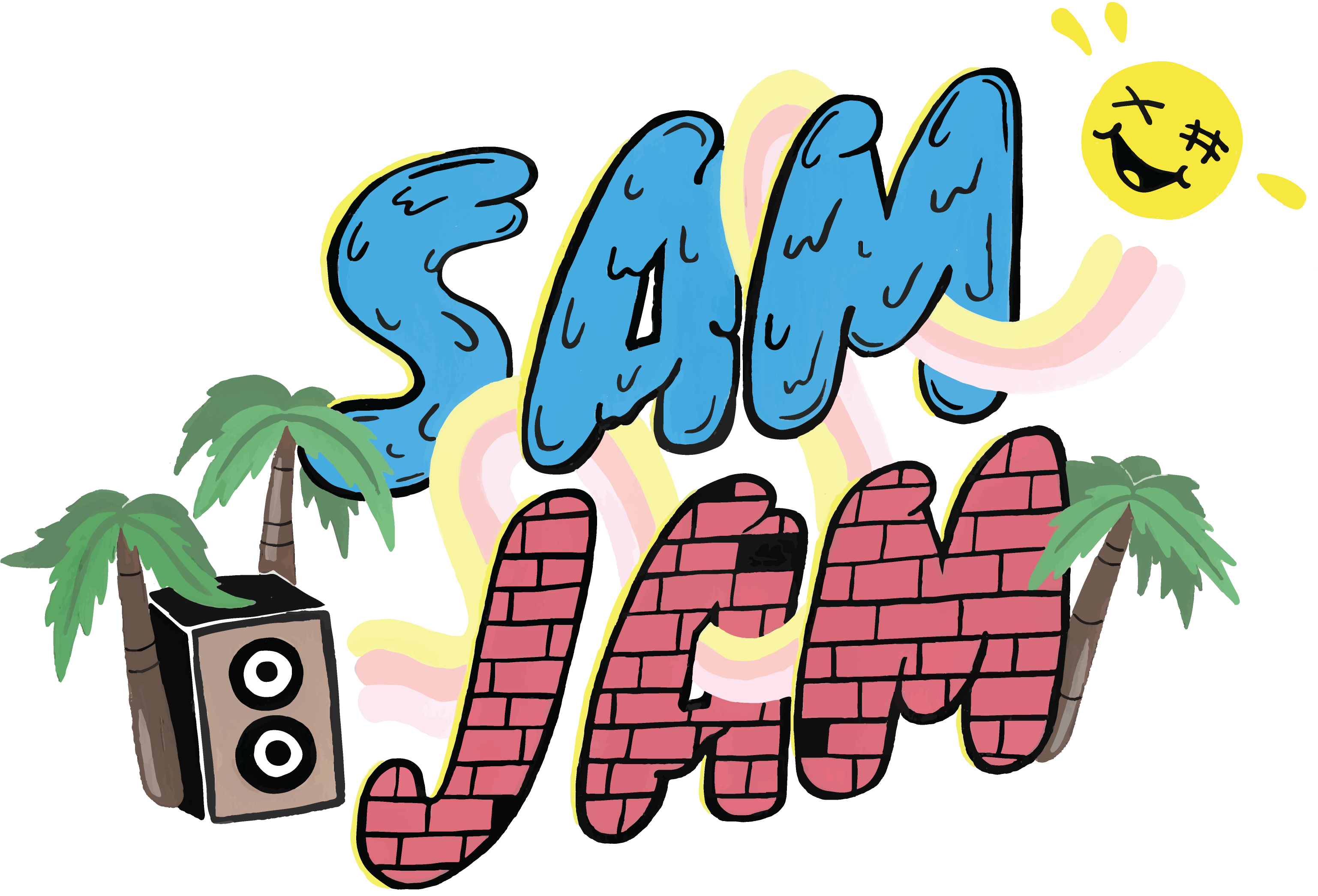 Logo Design For Sam Jam Block Party Clipart Full Size Clipart 462729 Pinclipart