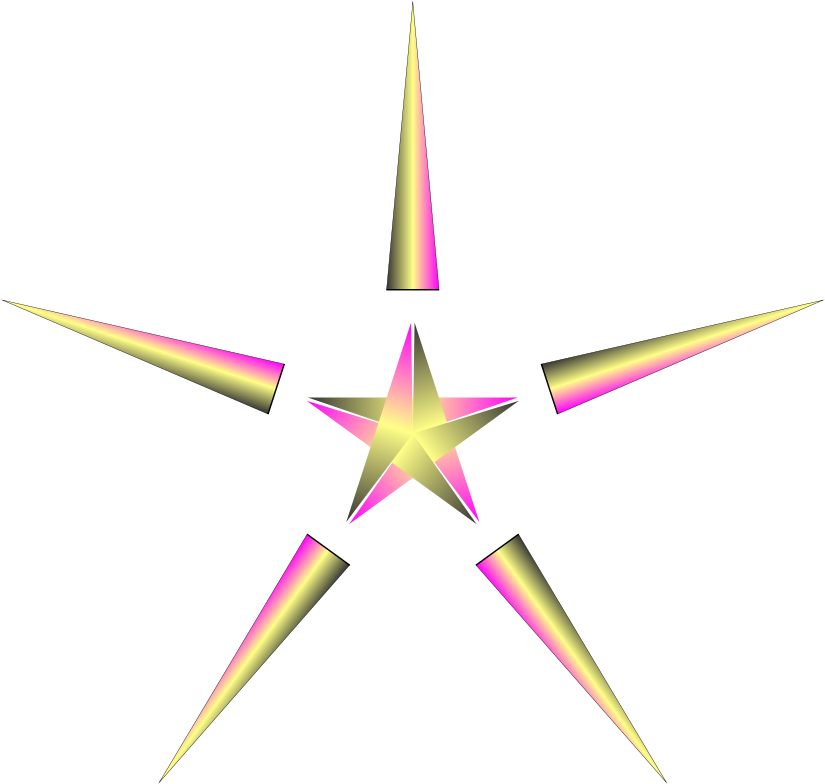 Christmas Clip Art North Star.Clipart Christmas Star With Pulsing Colors Clip Art Png