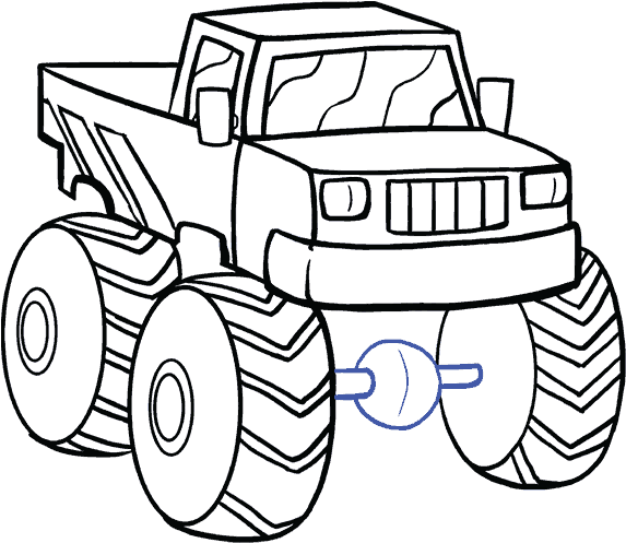 Fire Truck Drawing Easy At Getdrawings Com Step By Step Drawing Monster Truck Clipart Full Size Clipart 474089 Pinclipart