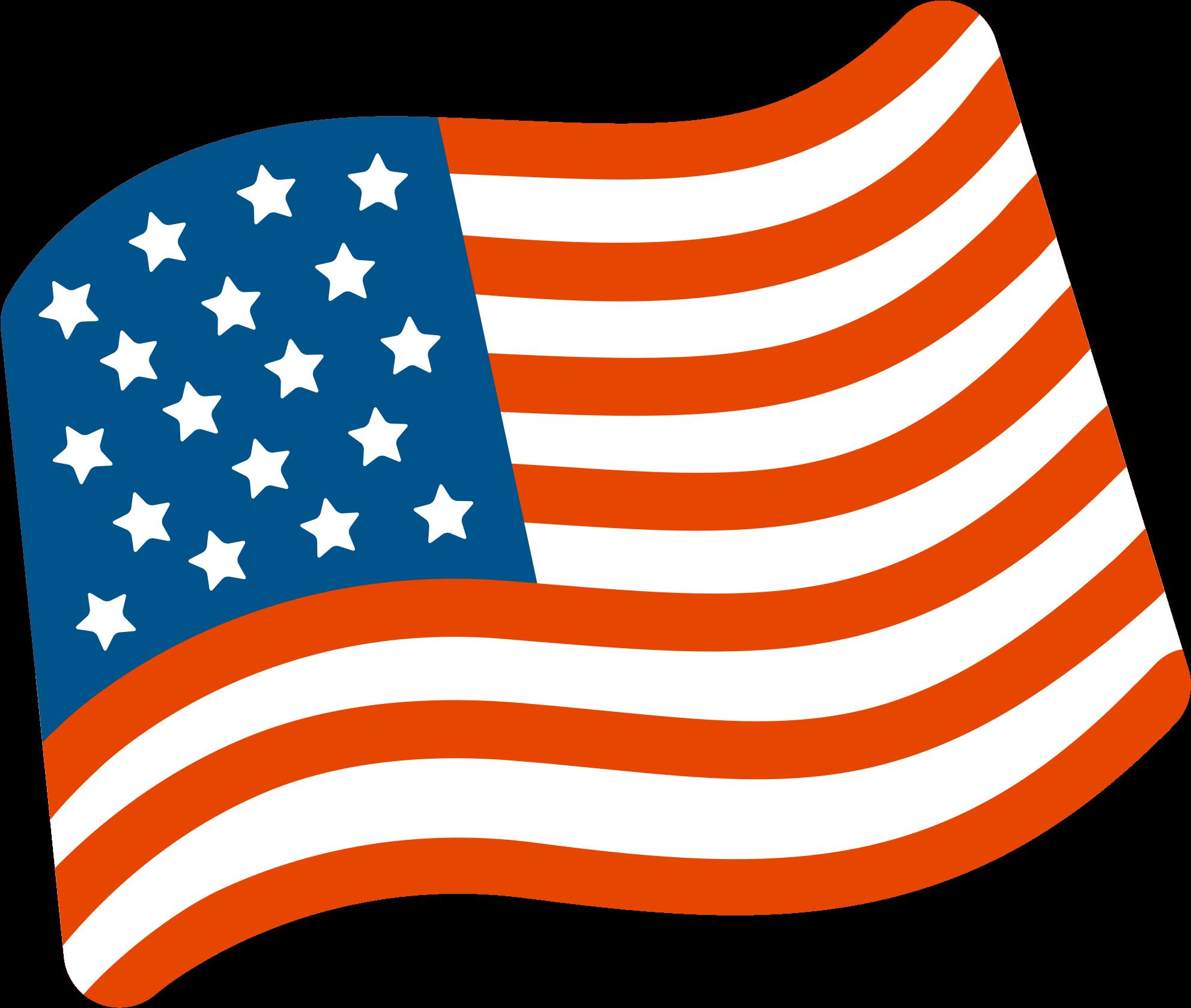 Usa Flag Waving Png - Us Flag Emoji Png Clipart - Full ...