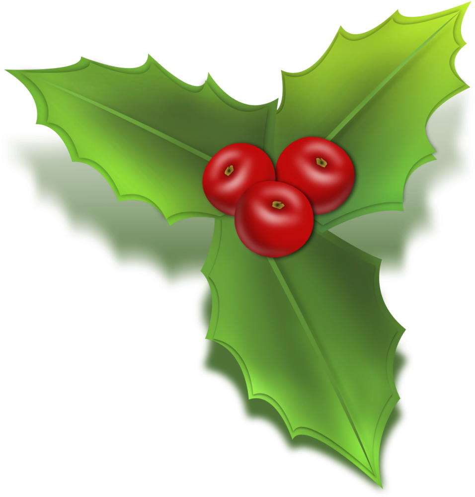 Christmas Holly Clipart Free.Free Christmas Holly Clip Art Christmas Mistletoe Icon Png