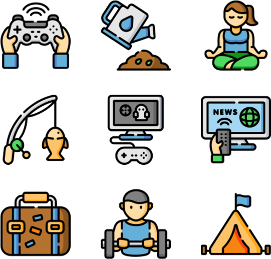 Hobbies And Freetime Iconos Hobbies Png Clipart Full Size Clipart 4859486 Pinclipart