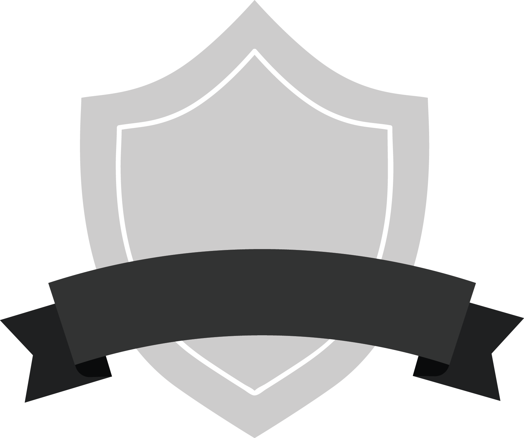 Gray Shield Badge With Black Ribbon Ribbon Banner Red Png Clipart Full Size Clipart 4885392 Pinclipart
