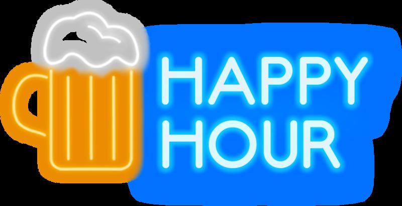 Bottles Of Beer £2 - Happy Hour Neon Png Clipart - Full ...