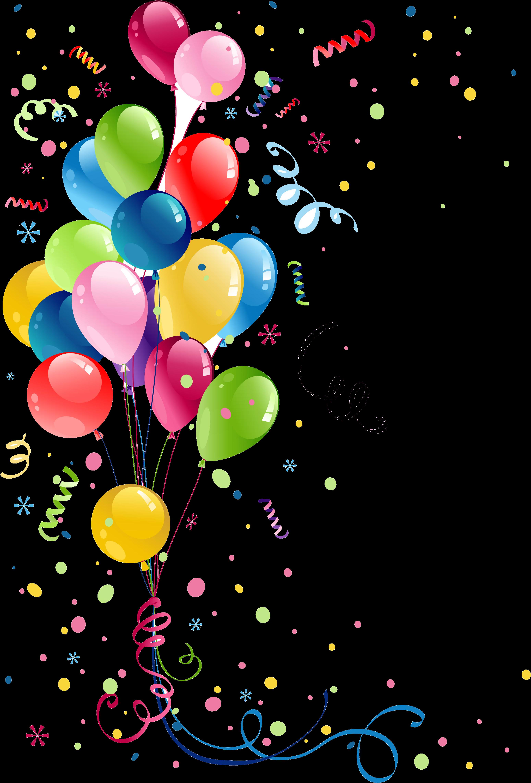 Remerciement Anniversaire Carte Anniversaire Femme Balloons Vector Clipart Full Size Clipart 490607 Pinclipart