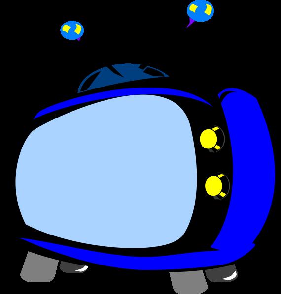 Blue Retro Tv Clip Art At Clker - Logo Tv Cartoon - Png Download ...