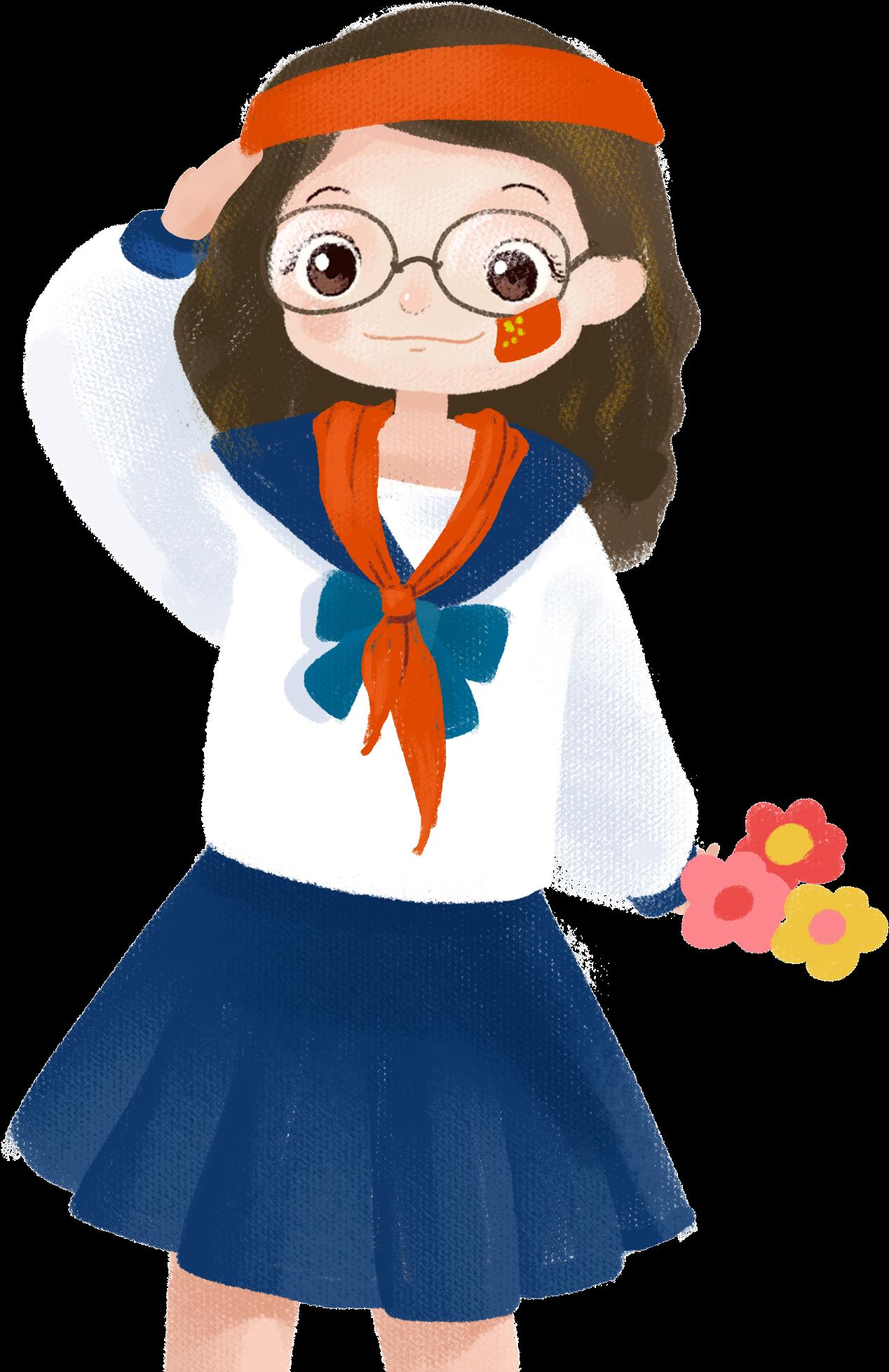 Cartoon Cute Girl Character Png And Psd - ภาพ การ์ตูน เด็ก ...