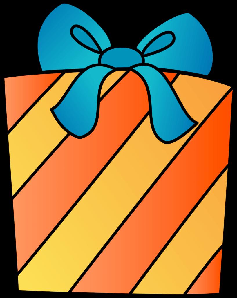 Present Clipart - Transparent Background Birthday Present ... (817 x 1027 Pixel)