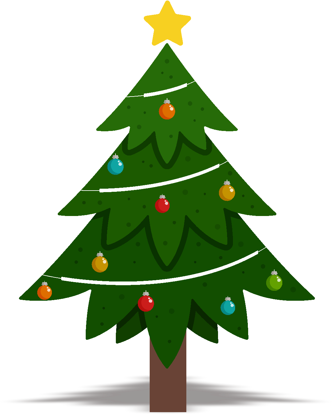 Christmas Tree Design Element Vector Png And Image - Plain ...