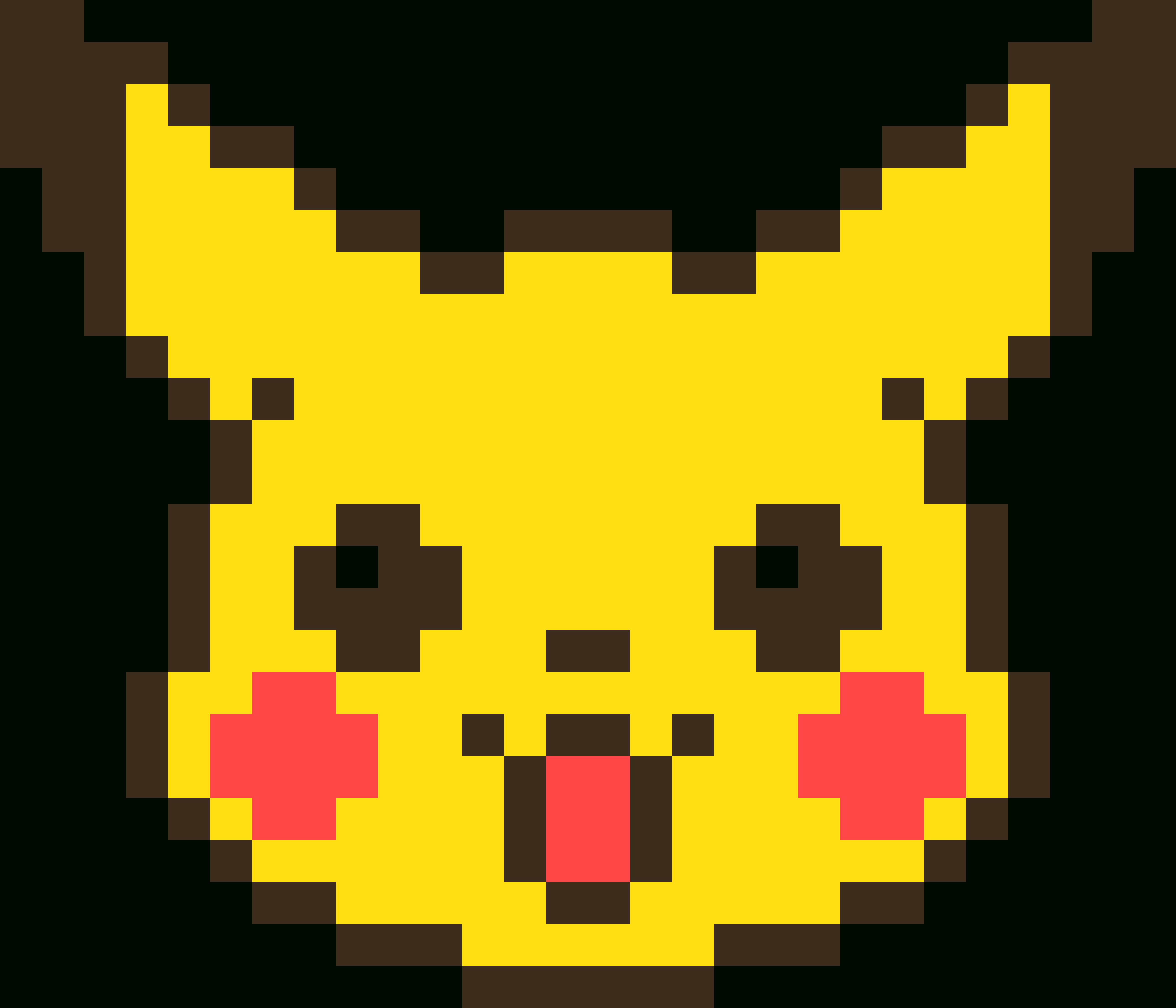 Unique Pikachu - Cara De Pikachu En Minecraft Clipart - Full Size