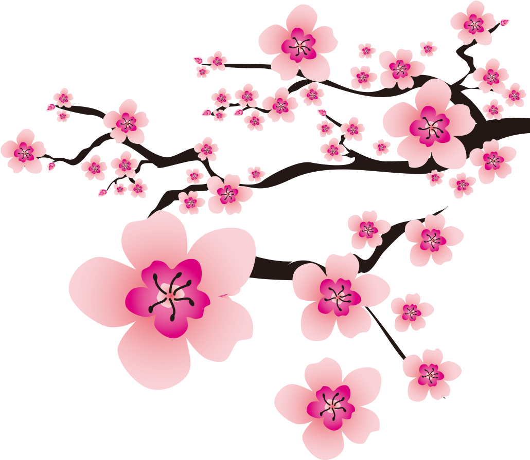Sakura Petals Transparent Animated Background Svg ...