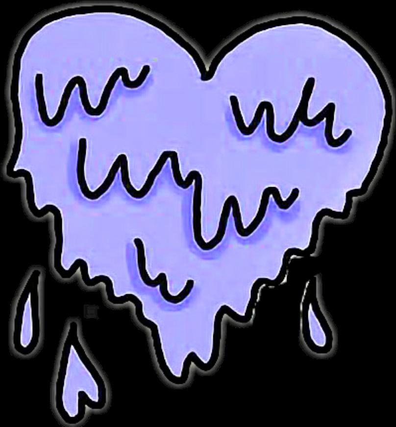 #heart #hearts #purple #blue #drip #dripping #tumblr Clipart - Full Size Clipart (#4960185 ...