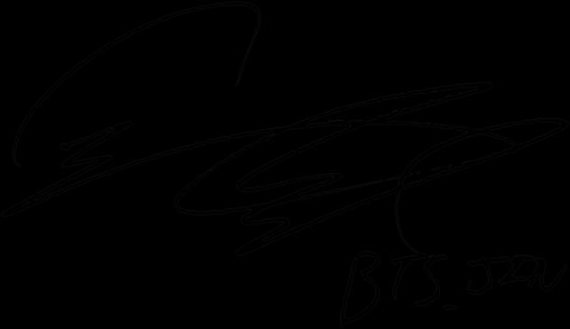496 4965950 jin seokjin signature bts persona photocard translation clipart