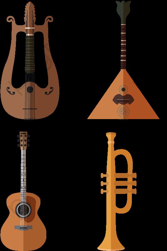 Trumpet Guitar Cello Instrument Guitar Vector Small