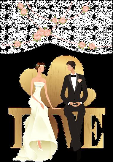 Groom And Bride Transparent Background Png Cartoon Wedding