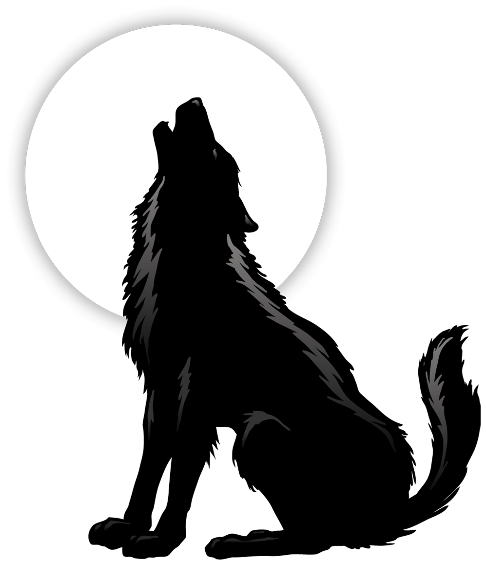 Download Gray Wolf Coyote Silhouette Clip Art - Howling ...