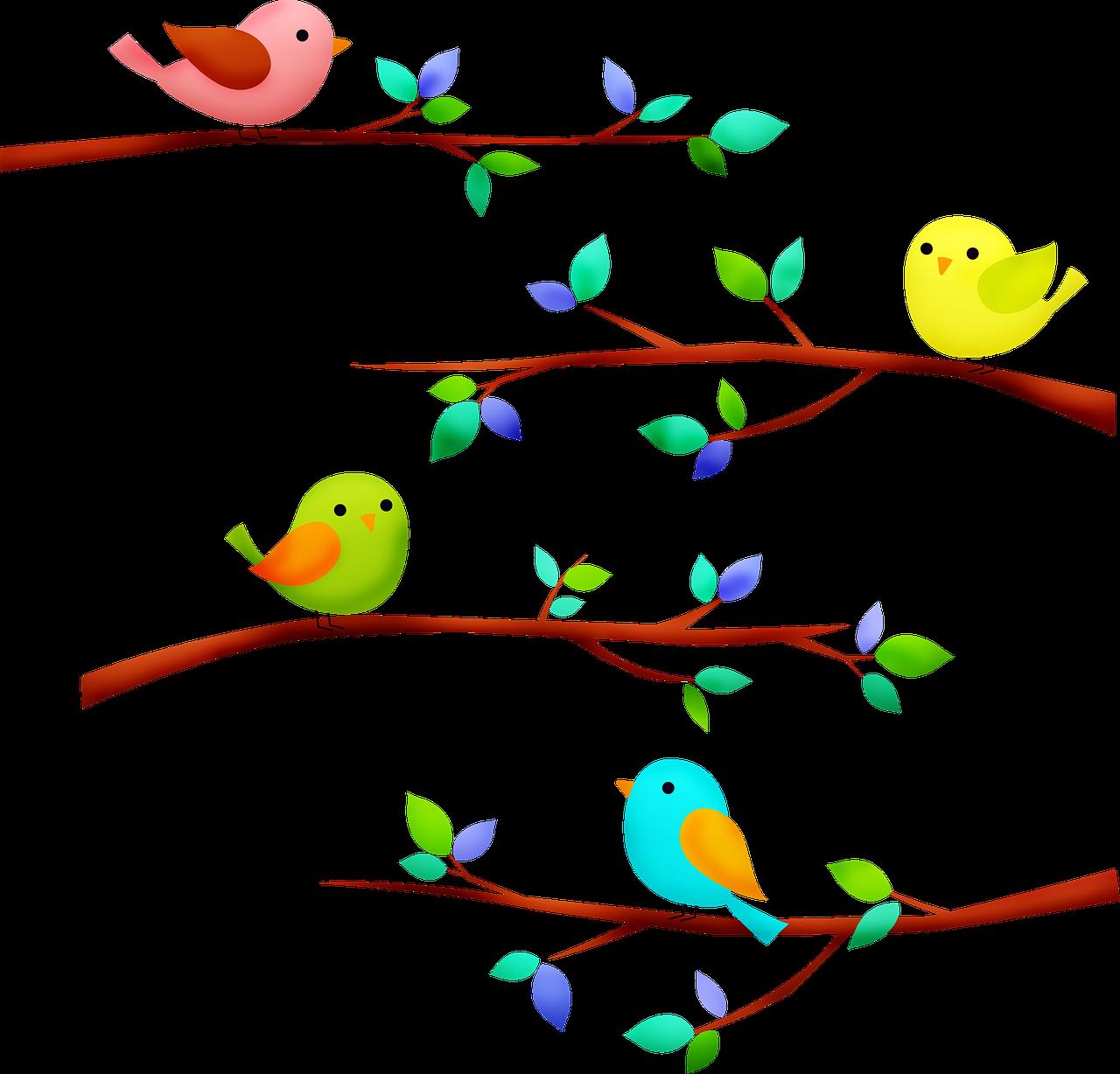 Птица на ветке картинки для детей