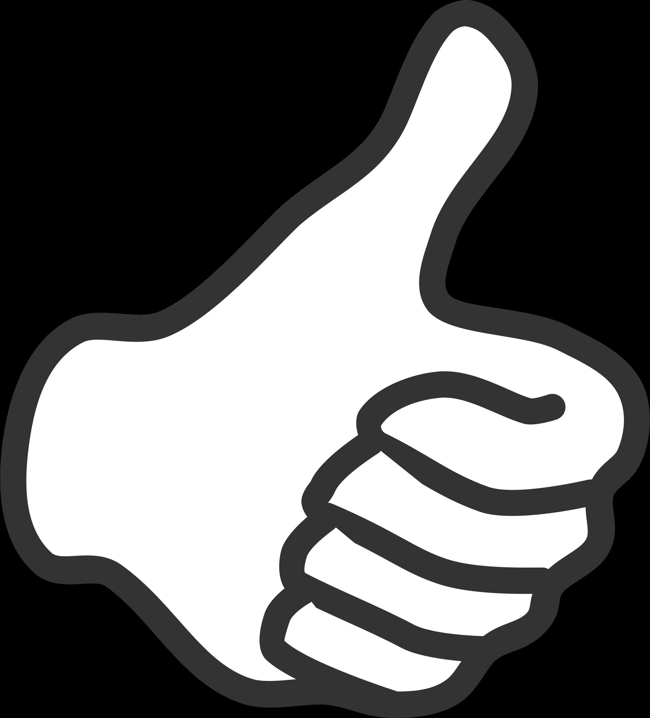 Большой палец вверх картинка для презентации