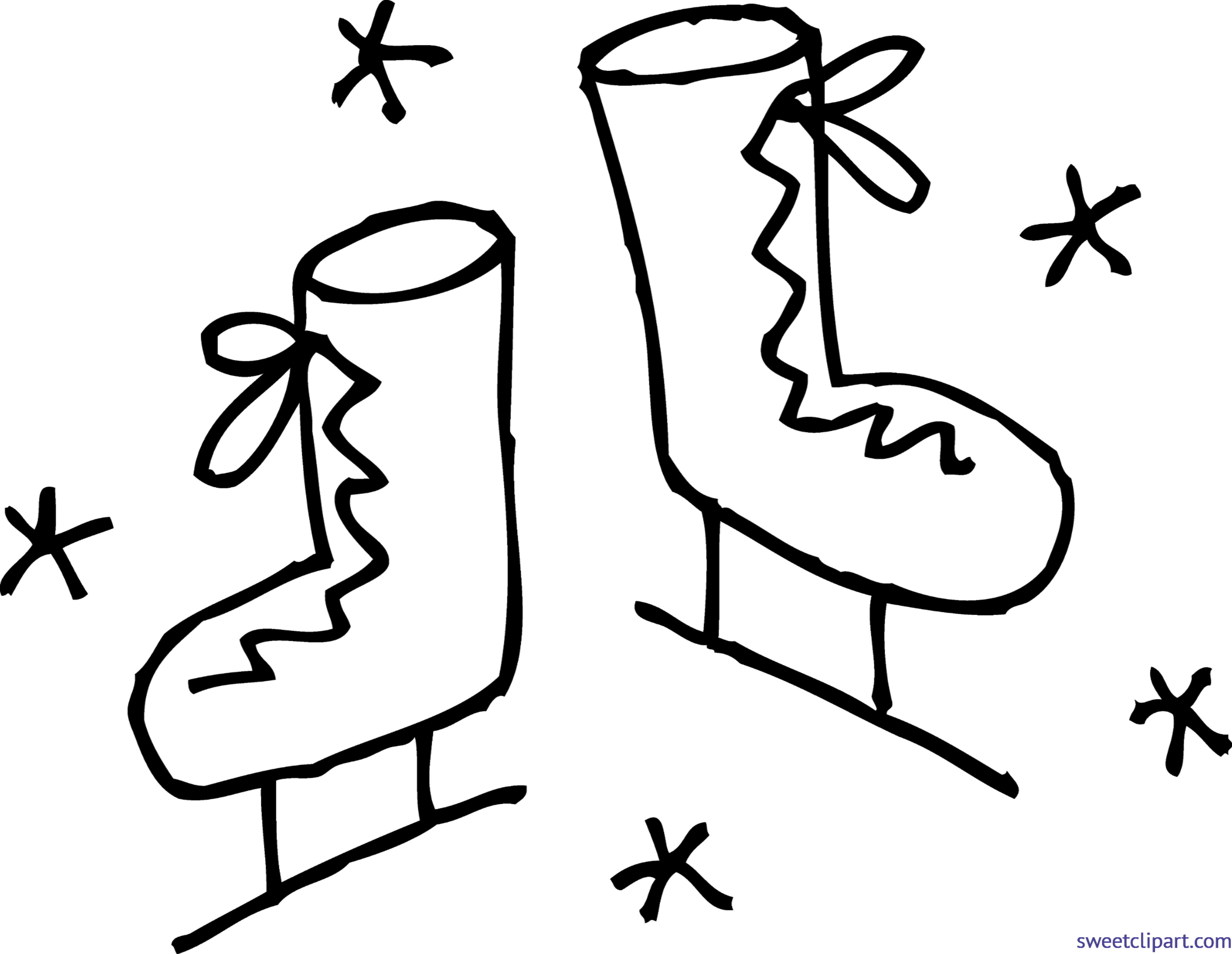 Ice Skates Clipart - Clip Art Ice Skates - Free Transparent PNG Clipart  Images Download
