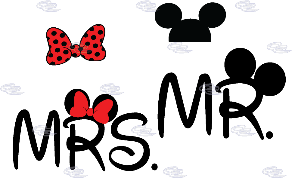 Mr Clipart Couple Mr Mrs Mickey Mouse Png Download Full Size Clipart 506825 Pinclipart