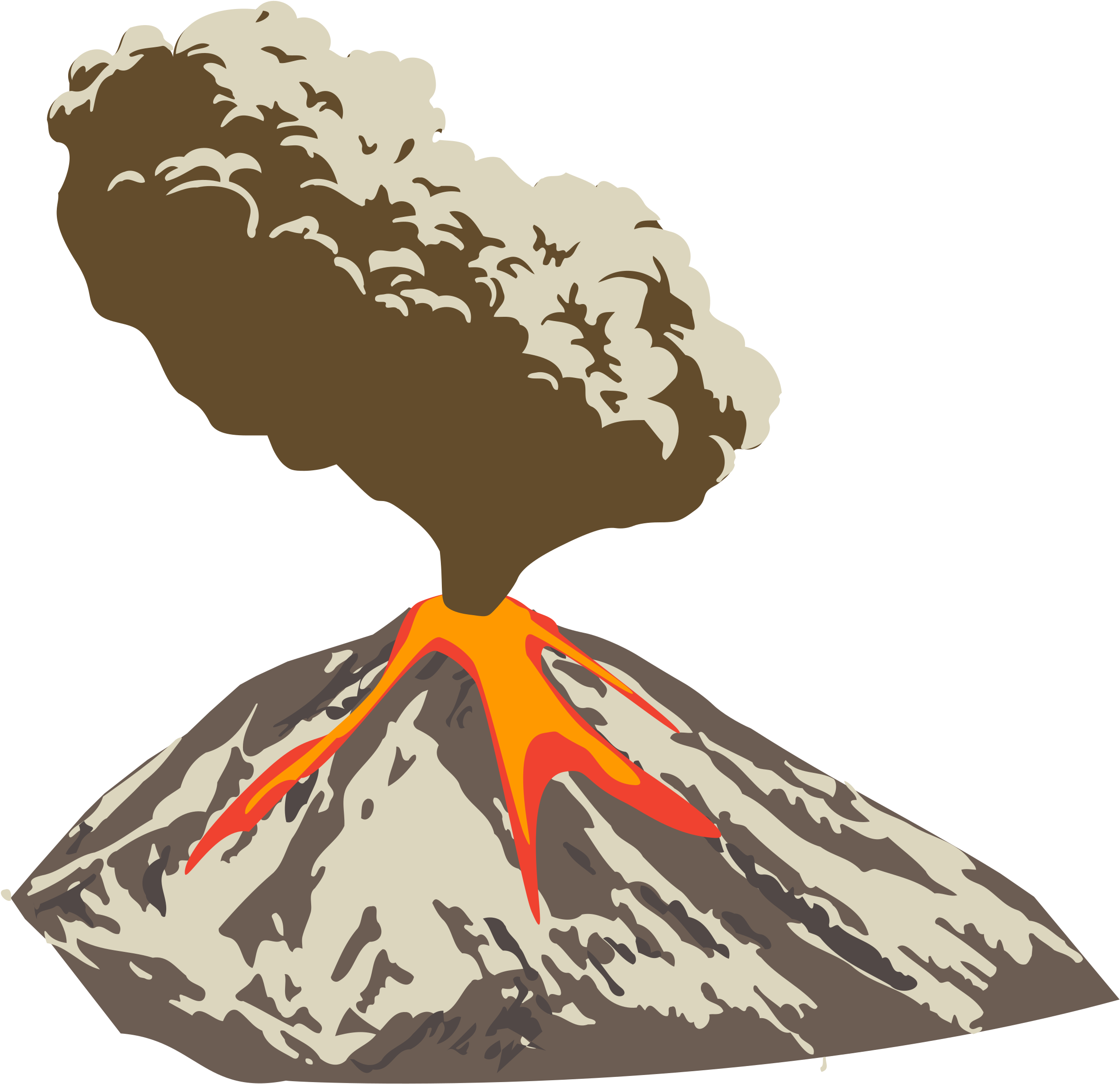 Volcano Png Clipart Png Mart With Volcano Clipart Volcano Png