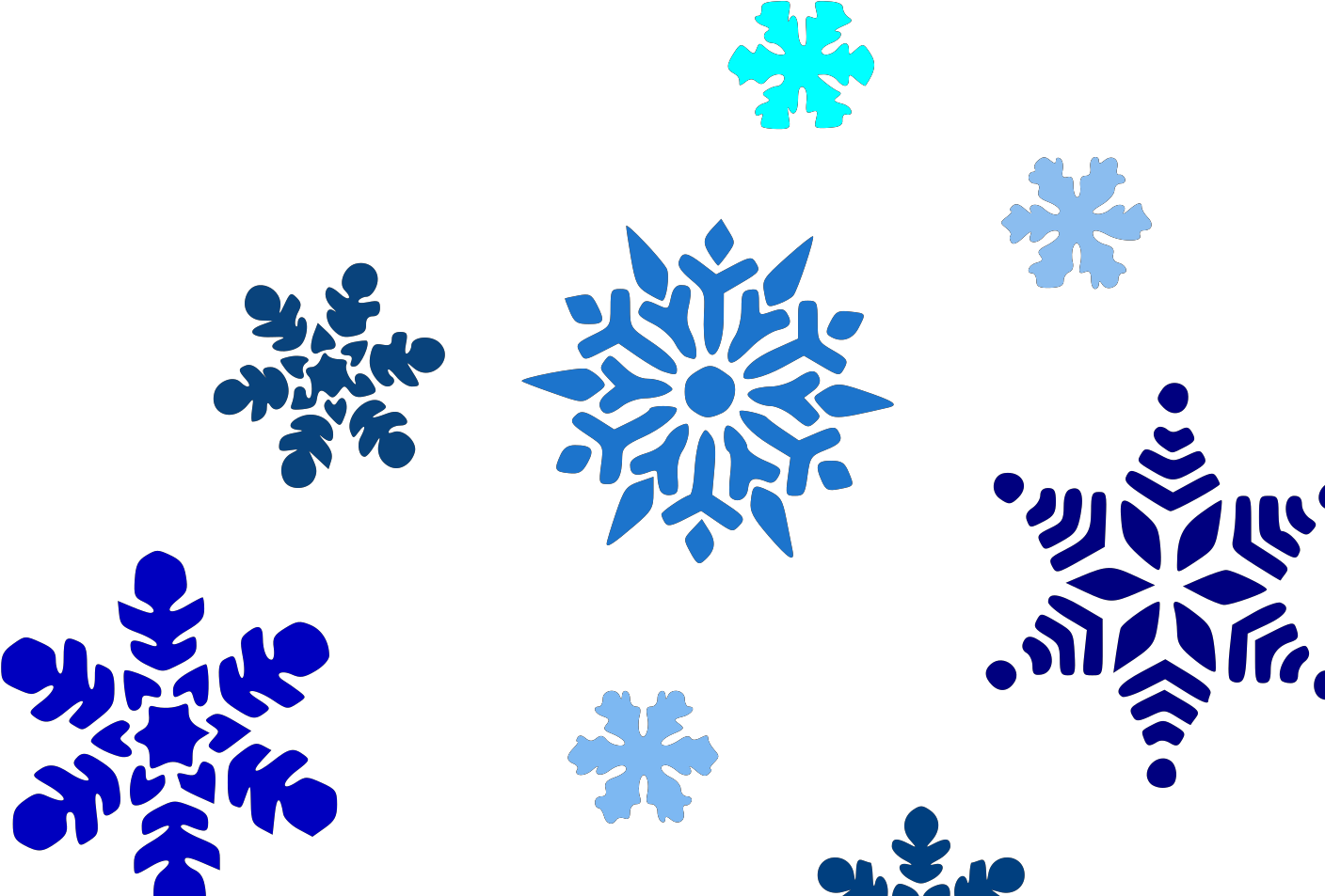 Falling Snowflakes Clipart Black And White Png Download Full Size Clipart 5194340 Pinclipart