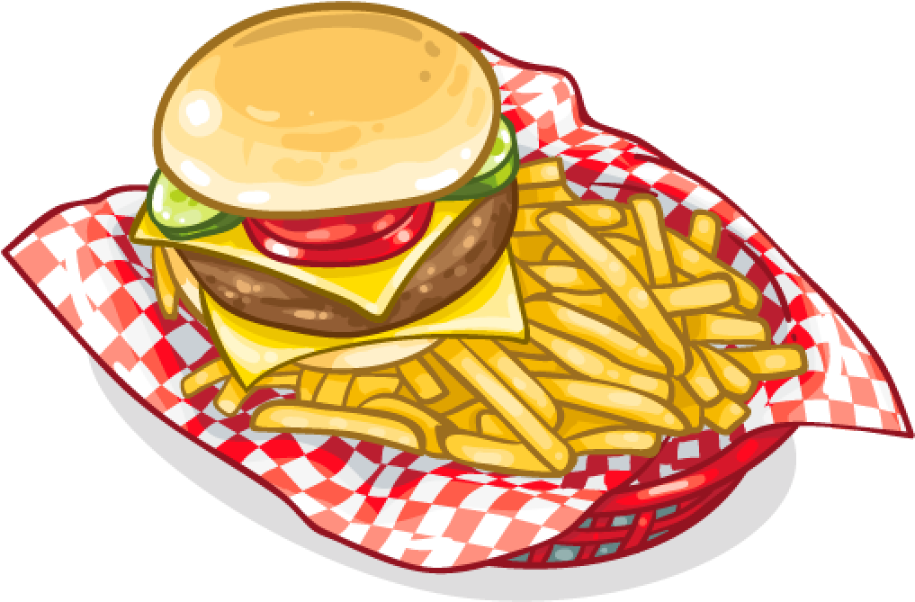 Scfrenchfries Frenchfries Fastfood Hamburger Burger - French Fries Clipart  - Full Size Clipart (#521770) - PinClipart