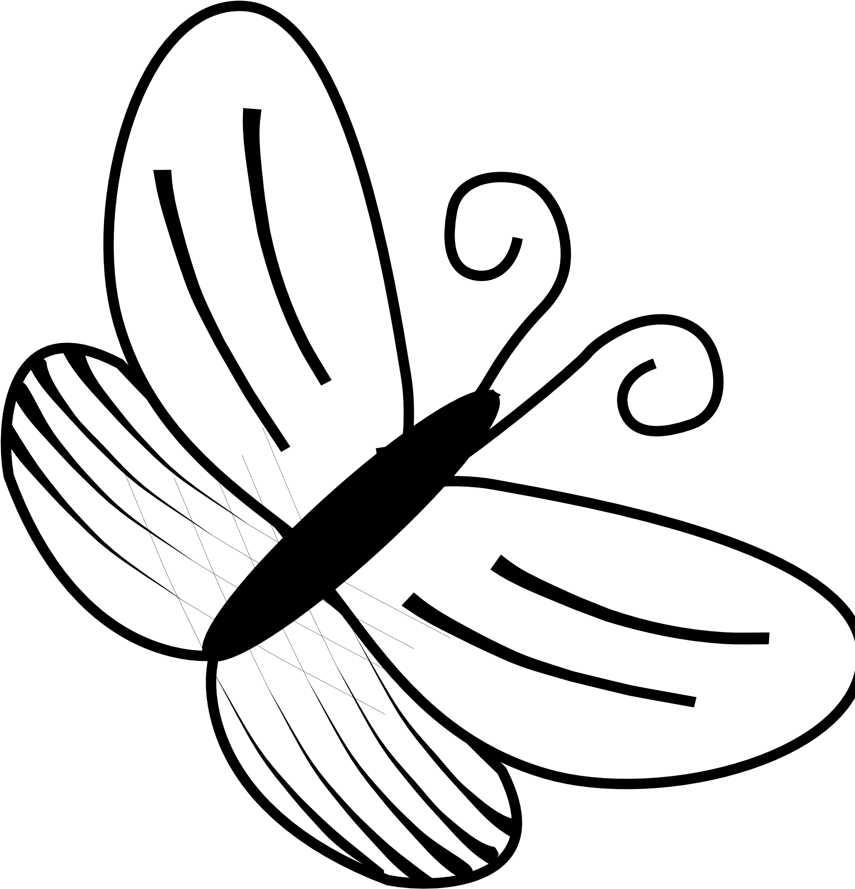 Butterflies Clipart Line Drawing 6 Butterfly Black Butterfly Images In Black And White Png Download Full Size Clipart 5204535 Pinclipart