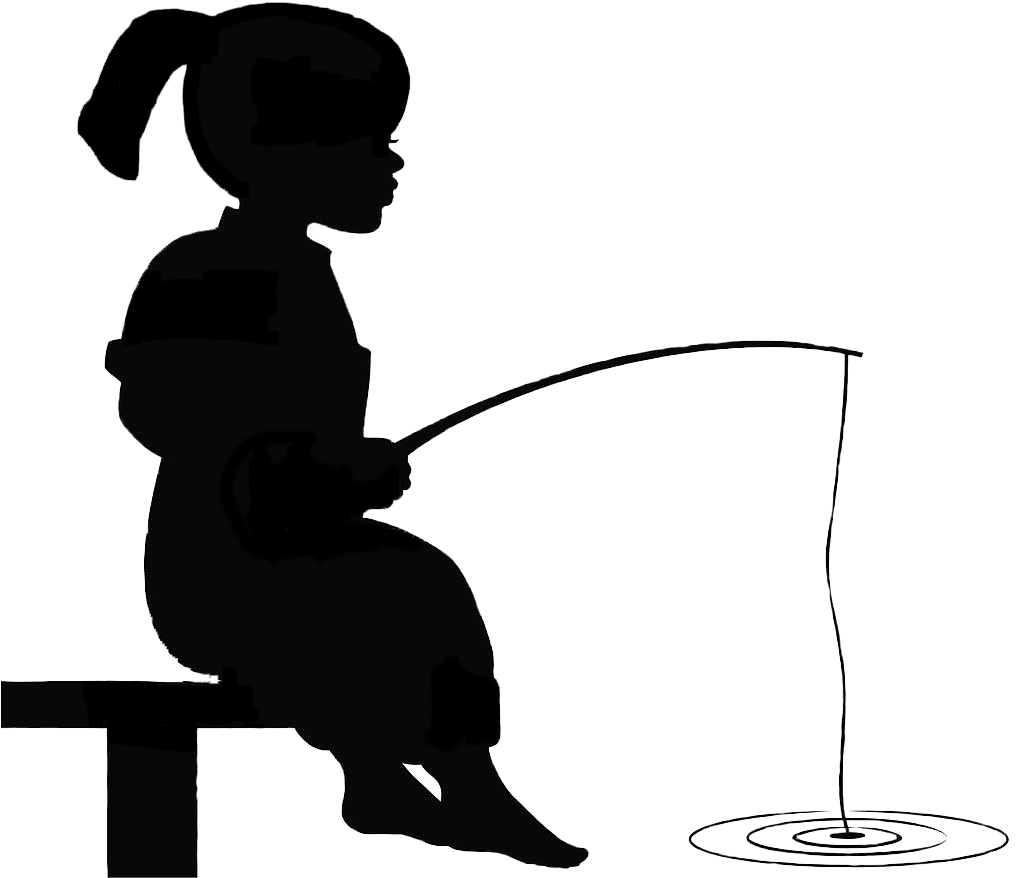 Silhouette At Getdrawings Com Silhouette Of Little Boy Fishing Clipart Full Size Clipart 5213455 Pinclipart