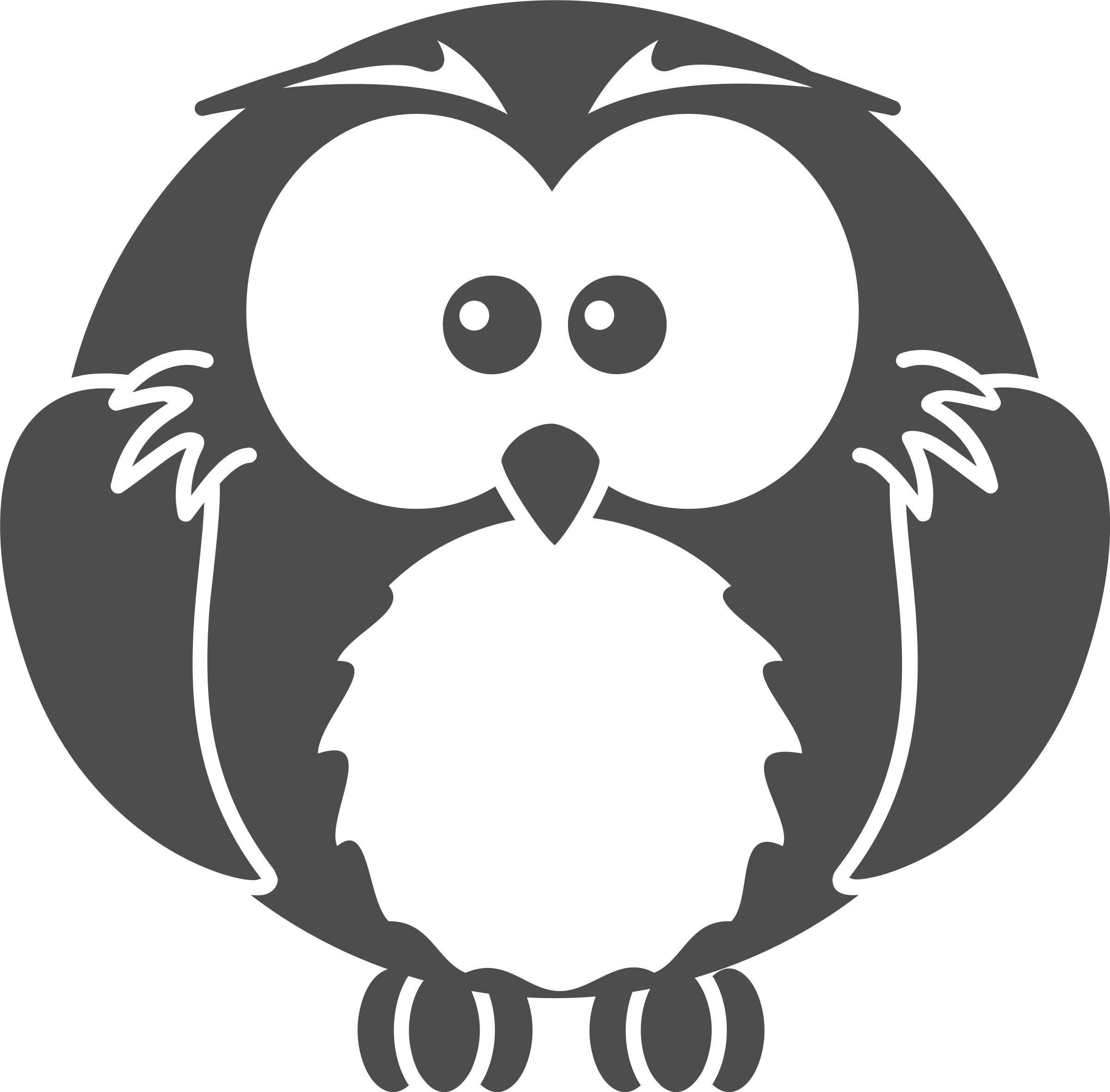 Cartoon Icons Png Free Cartoon Owl Png Black And White Clipart Full Size Clipart 5217362 Pinclipart