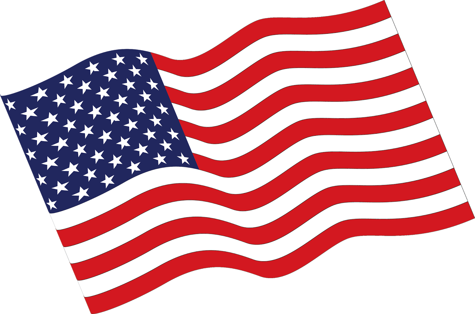 Flag Of The United States Clip Art - Vector American Flag ...