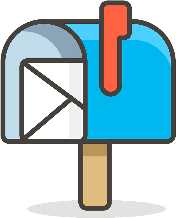 Open Mailbox With Raised Flag Emoji Clipart - Mailbox Emoji - Png Download (800x800), Png Download