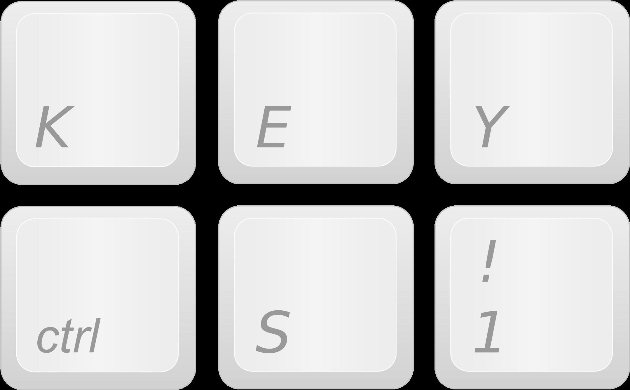 Transparent Keyboard Clipart - Keyboard Keys Clip Art ...