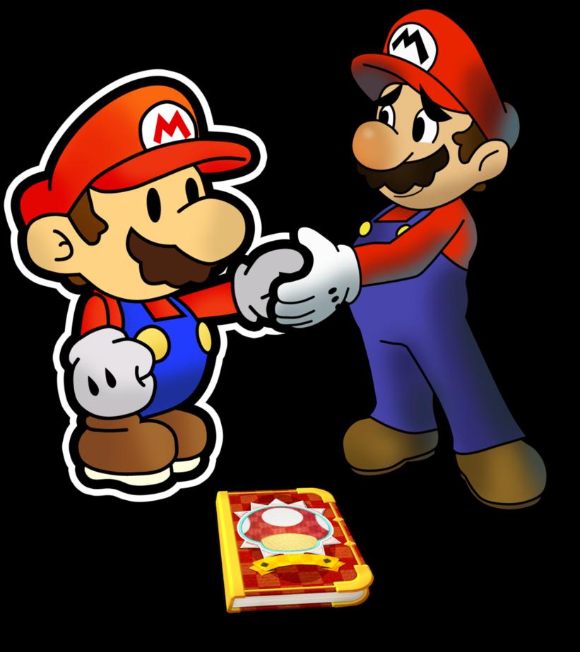 Goodbye Clipart Wave Hi, Picture - Paper Mario Sticker ...