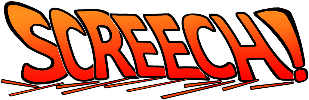 Screech, Brake, Braking, Text, Screech - Brake Screech Clipart (1042x340), Png Download