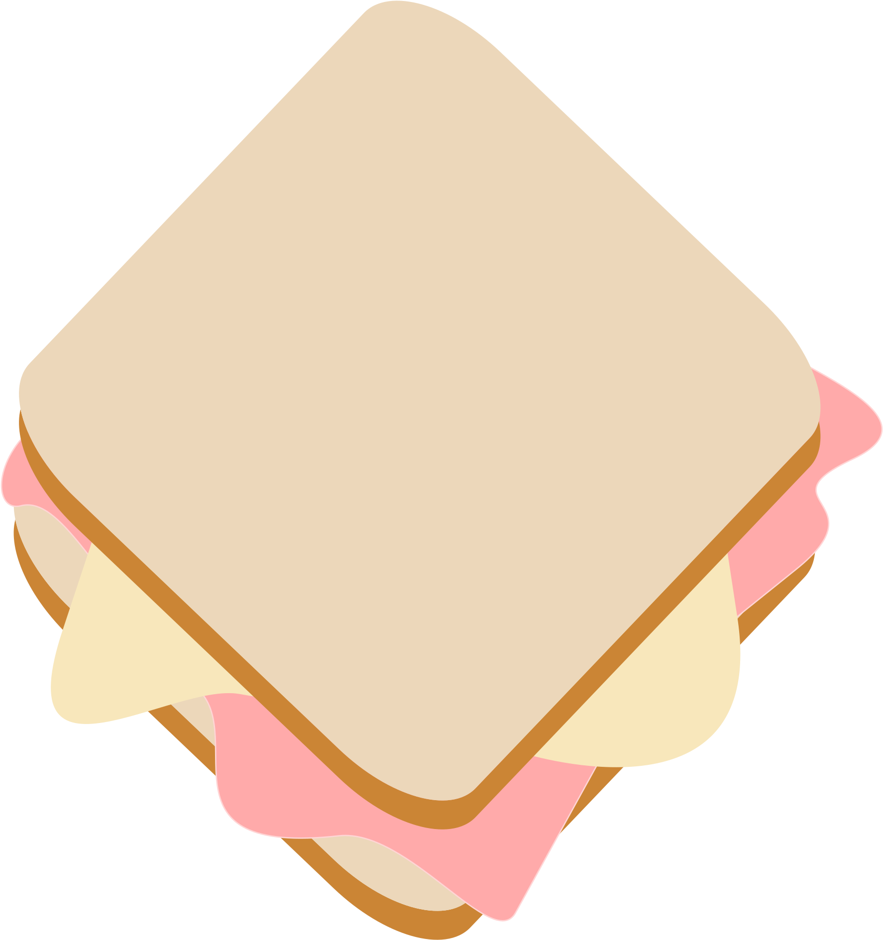 Ham And Cheese Clip Art - Png Download - Full Size Clipart ...