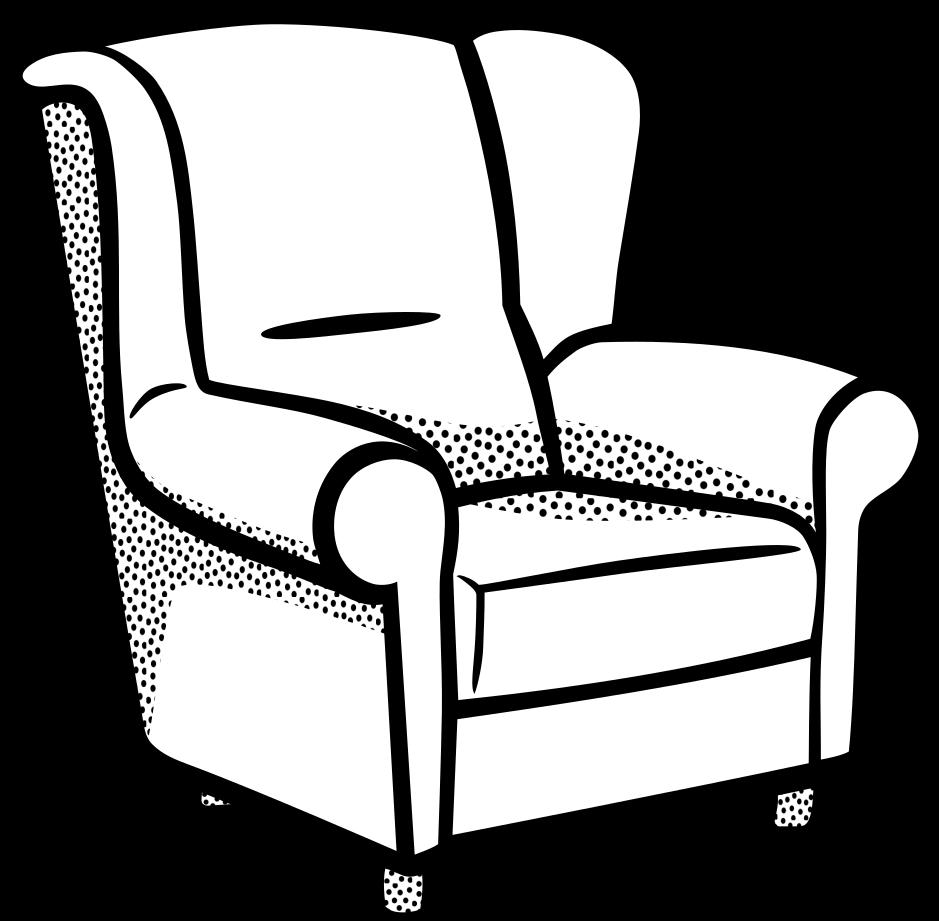 Картинки диванов и кресел черно белые