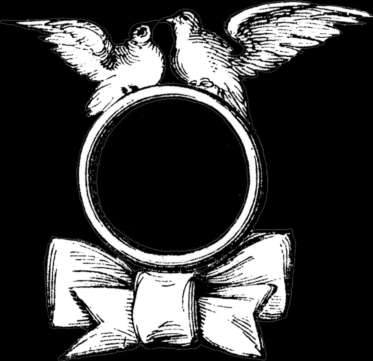 Clipart Wedding Card Design Border - Png Download - Full ...