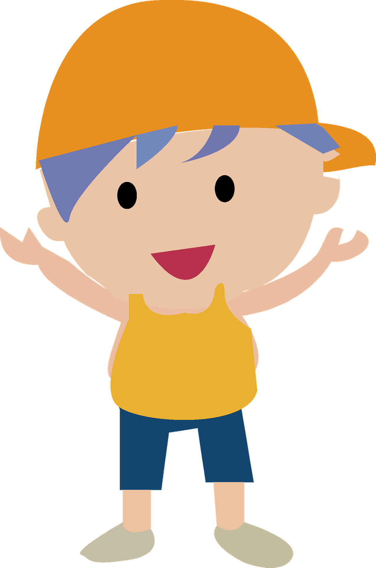 Elementary School Boy Clipart Vektor Anak Sekolah