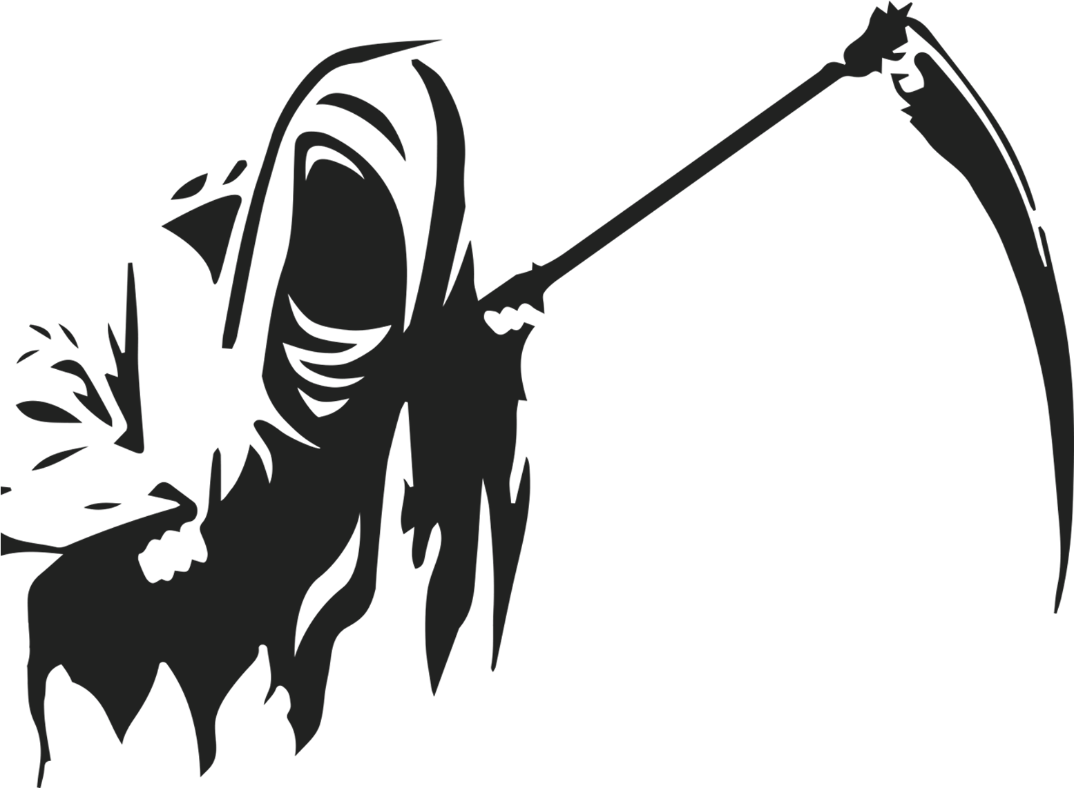 Download Death Logo Silhouette White - Reaper Black And ...