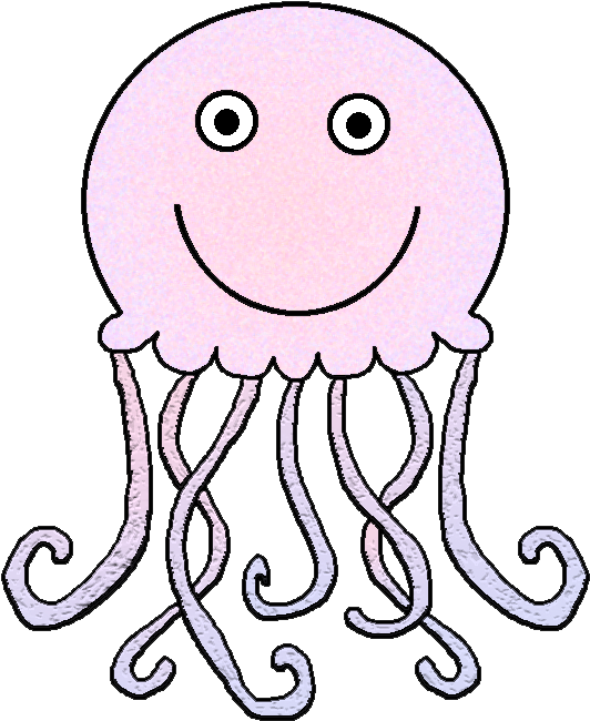 Cute Jellyfish Clipart Kid - Jelly Fish Clip Art Black And ... - photo#24