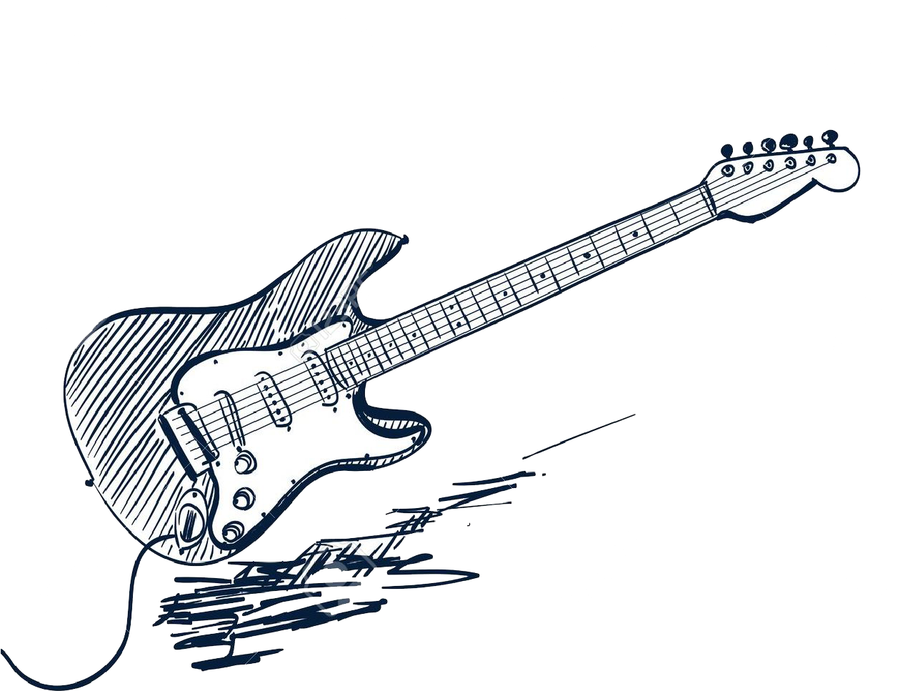 Sketch Electric Guitar Vector Graphics Drawing Clipart Guitar Drawing Png Download Full Size Clipart 5499300 Pinclipart