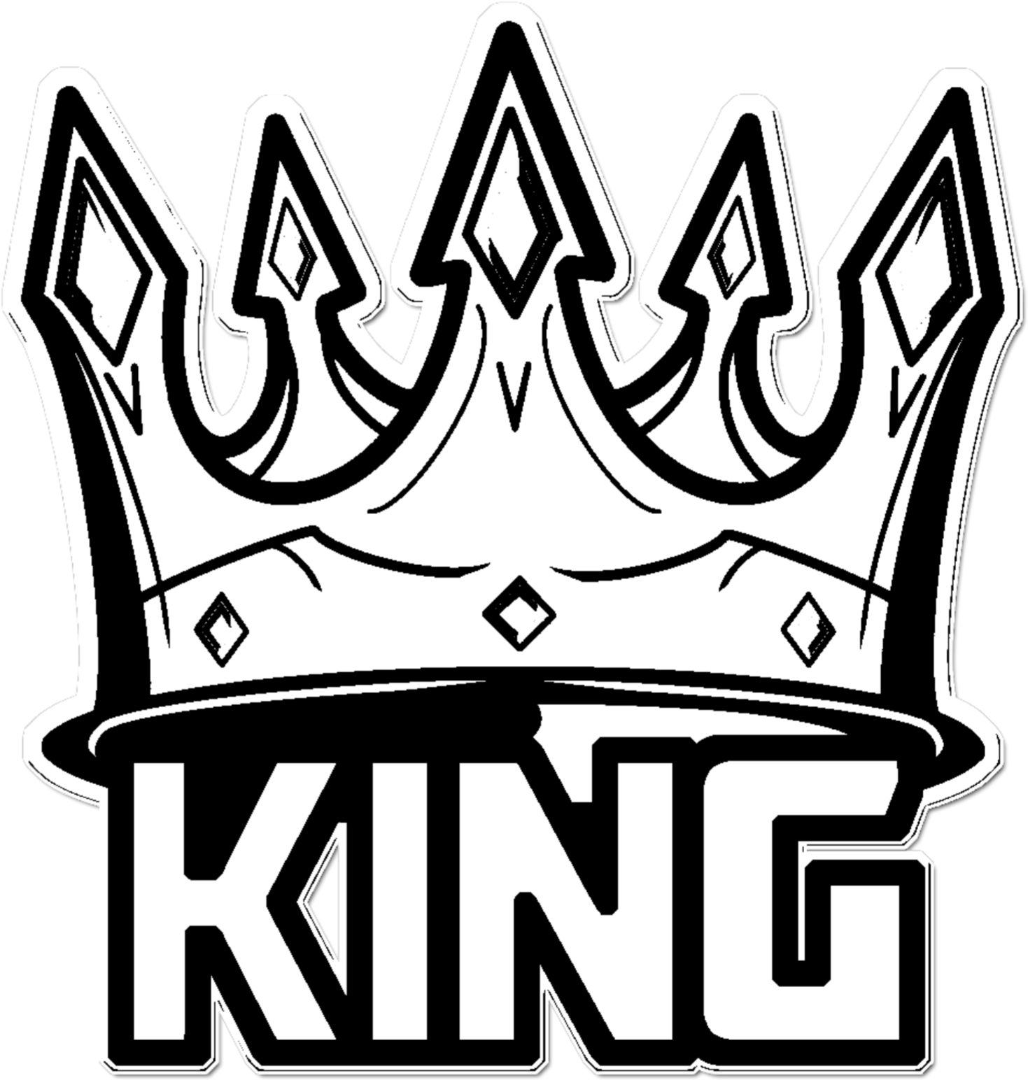 Transparent King Crown Clipart Black And White - King ...