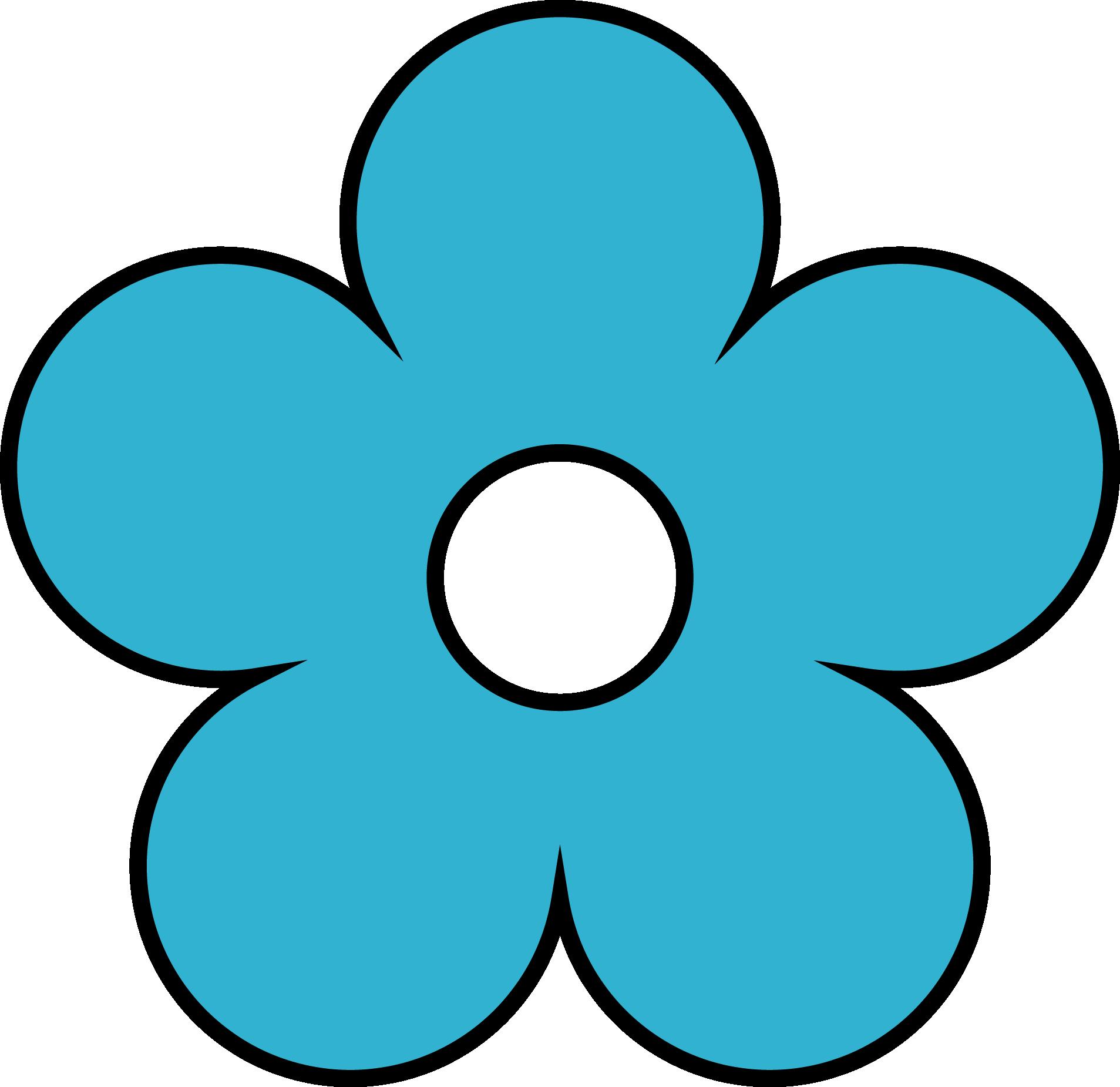 Картинка синего цветочка для детей