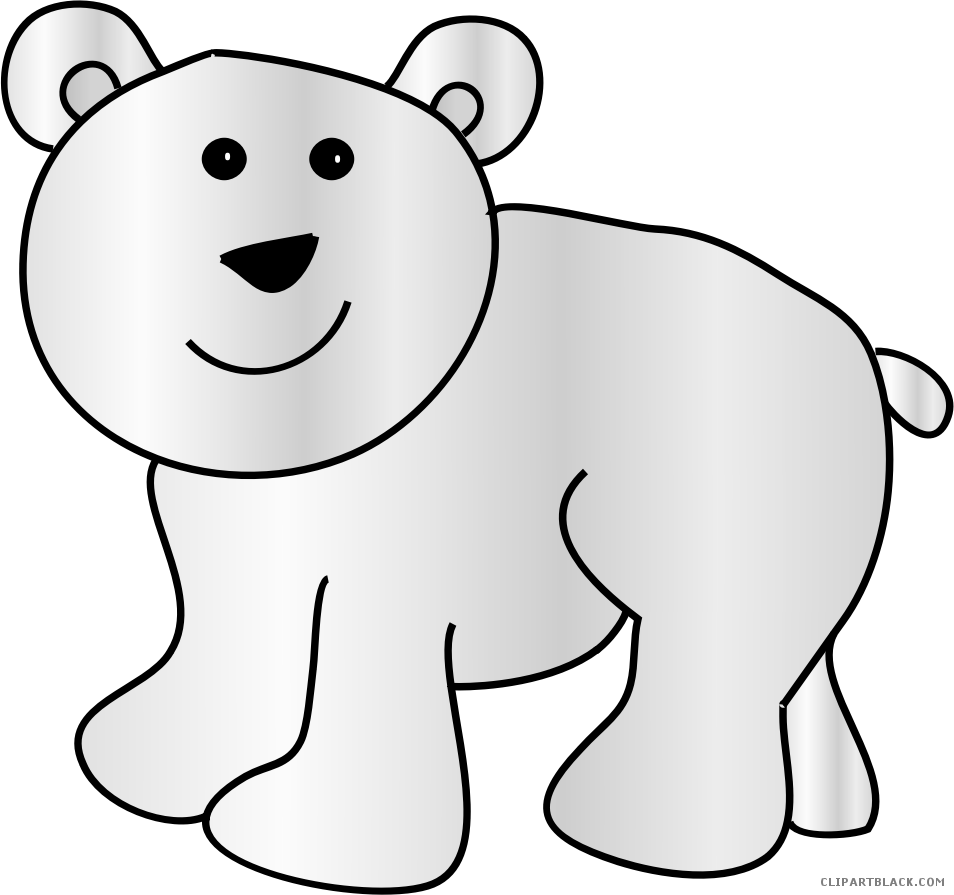 Polar Bear Animal Free Black White Clipart Images Clipartblack Clip Art Png Download Full Size Clipart 5603896 Pinclipart