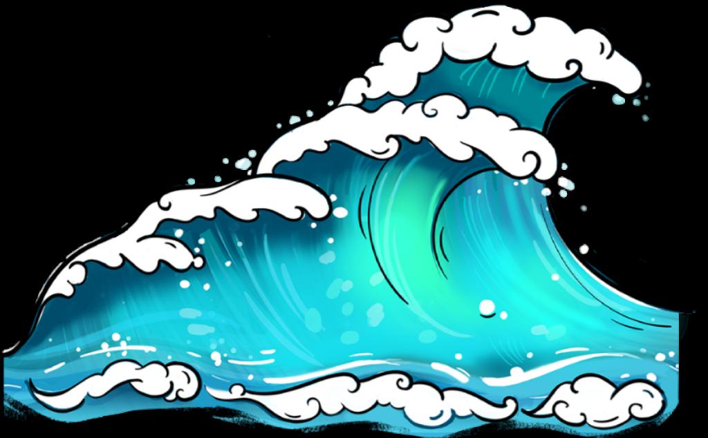 #waves #ocean #sea #blue #sticker - Waves Sticker Png ...