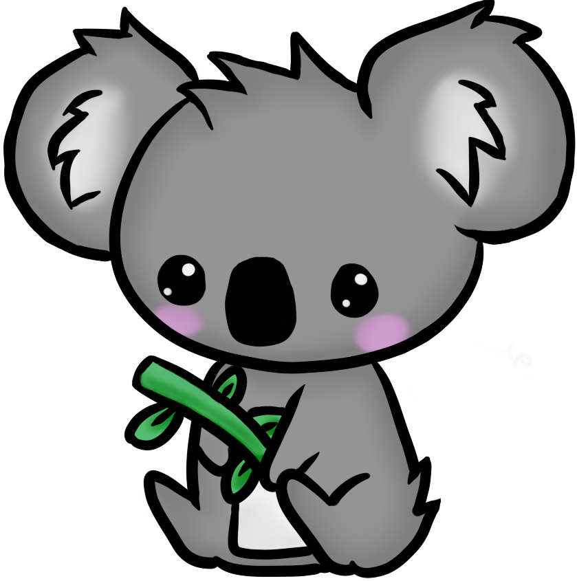 Koalas Para Dibujar Kawaii Clipart - Full Size Clipart ...